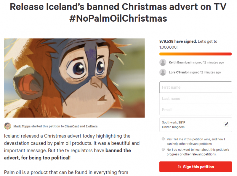 Organiser of petition to lift Iceland ad ban never wanted campaign to end in 'death threats'