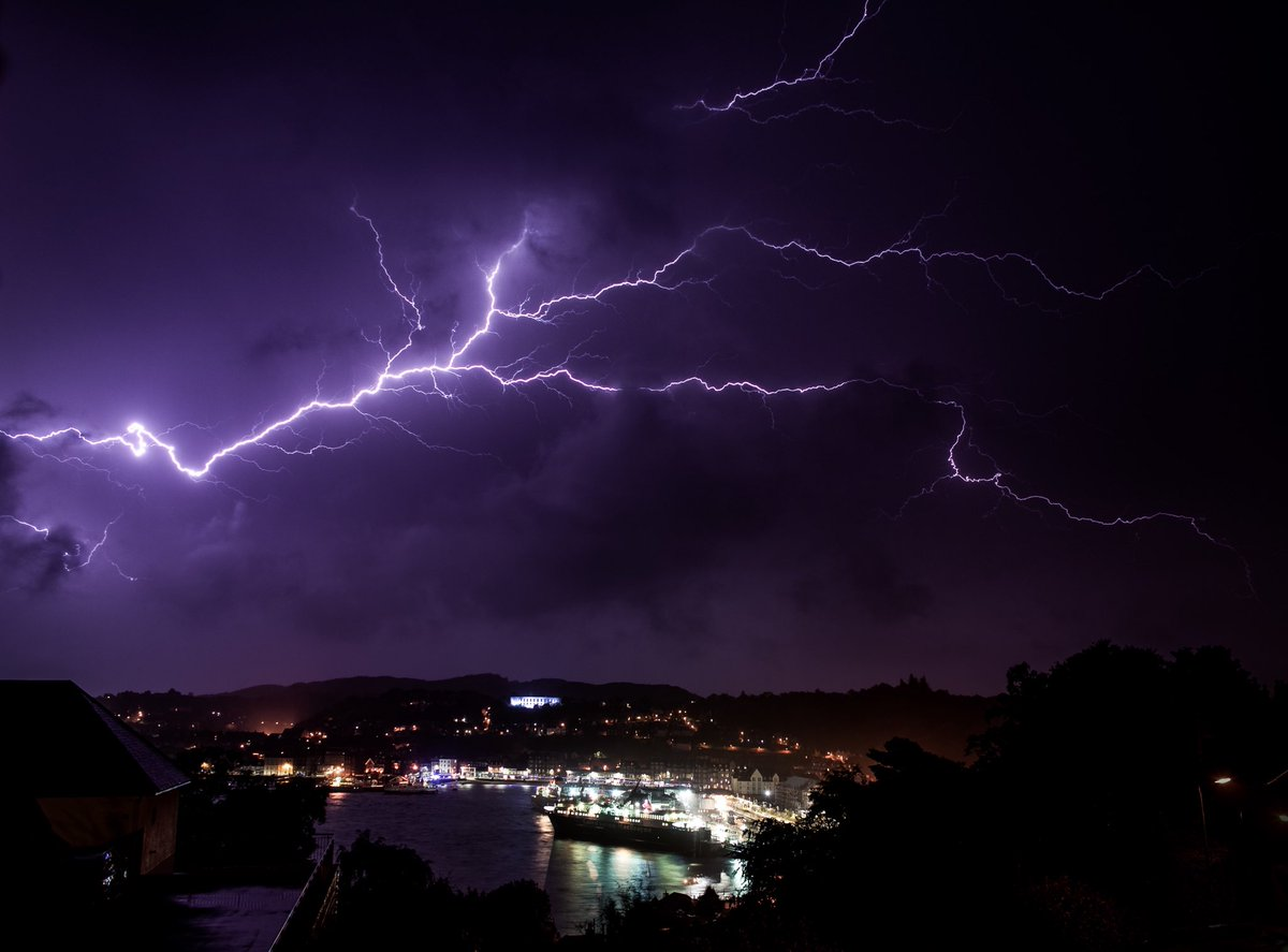 Lightning from Storm Ali over Oban, Scotland (Credit: Nick Edgington)