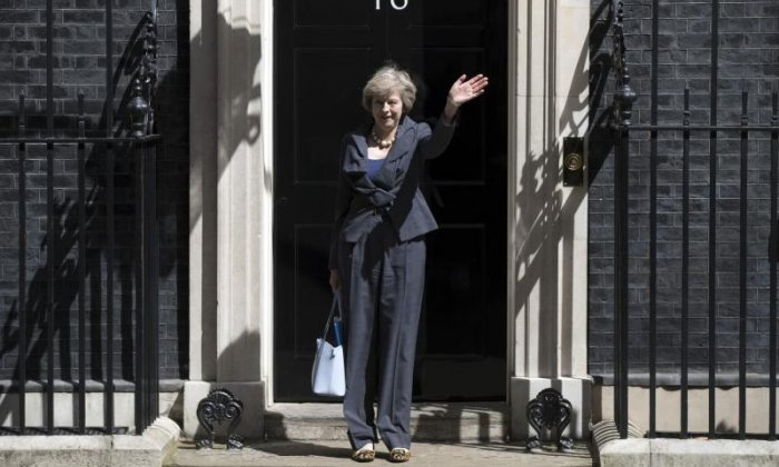 Theresa May is being confused with glamour model Teresa May on Twitter