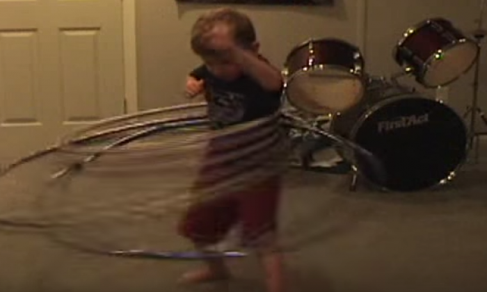 Ethan Cain - Most hula hoops spun by a five year-old