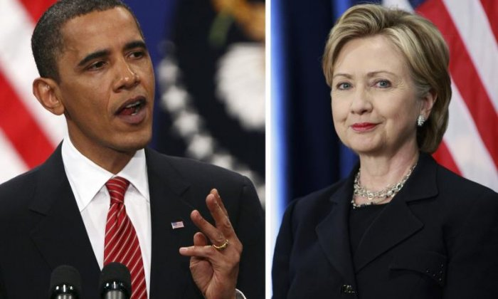 """""""In fact, in many respects, you know they honour President Obama, Isis is honouring President Obama. He is the founder of Isis. He is the founder of Isis. He's the founder. He founded Isis. And I would say the co-founder would be crooked Hillary Clinton. Co-founder. Crooked Hillary Clinton"""""""