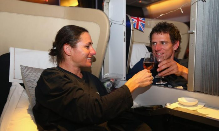 They travel in style in first class (Getty)