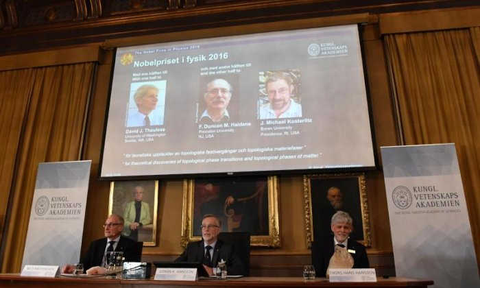 Three British scientists win the Nobel Prize in Physics