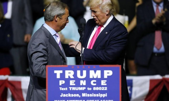 Nigel Farage has made his views on the US presidential election clear on Twitter