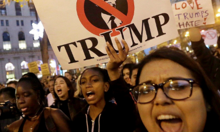 Parisians to march through French capital on Saturday in demonstration against Donald Trump