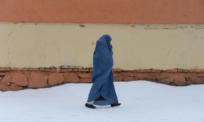 A woman in a burqa is seen here in Germany