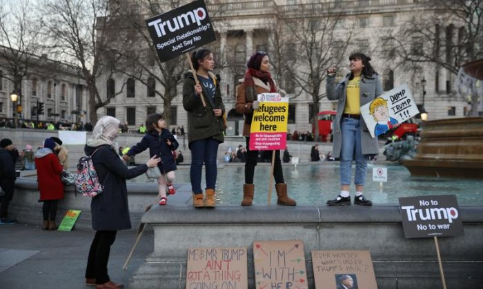 'Theresa May must tell Donald Trump that we don't accept his misogyny', says the Women's Equality Party