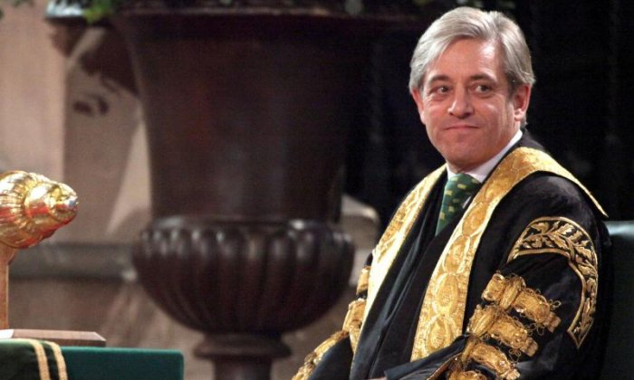 'John Bercow wants people to think of him as leading the charge against Donald Trump', says his biographer