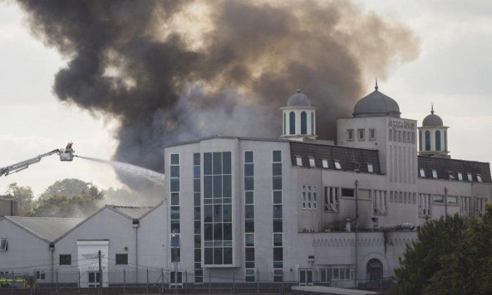 Teenager claims huge fire at London mosque 'was accidental, despite starting it with barbecue lighter'