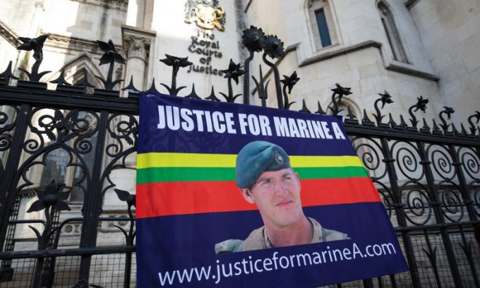 'Marine A endured six months of hell before shooting injured Taliban fighter', says lawyer