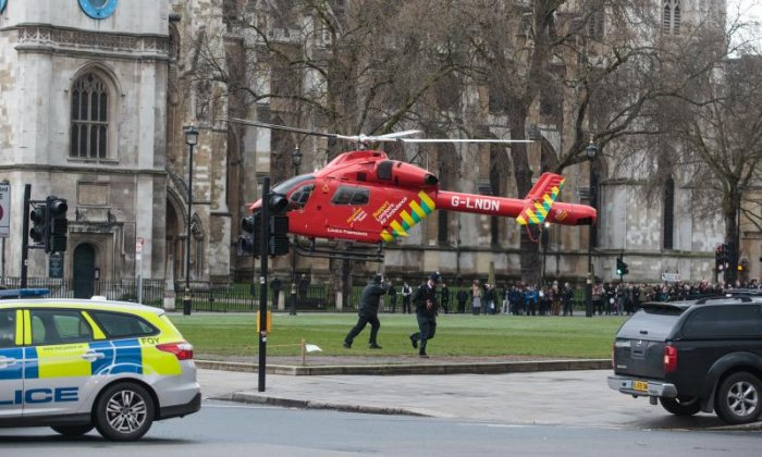 An Air Ambulance arrived at the scene