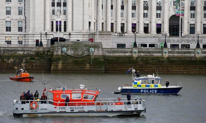 Police travelled down the River Thames