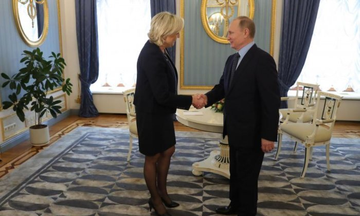 Marine Le Pen has a meeting with Russian President Vladimir Putin in Moscow