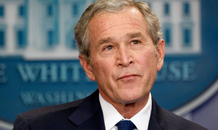 """George W. Bush: '""""I'm telling you there's an enemy that would like to attack America, Americans, again. There just is. That's the reality of the world. And I wish him all the very best.'"""