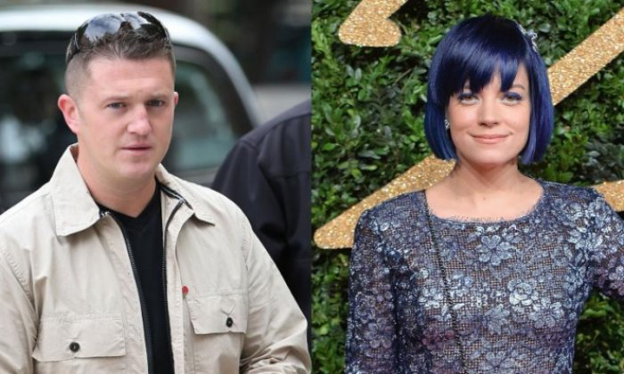 Tommy Robinson reopens feud with Lily Allen