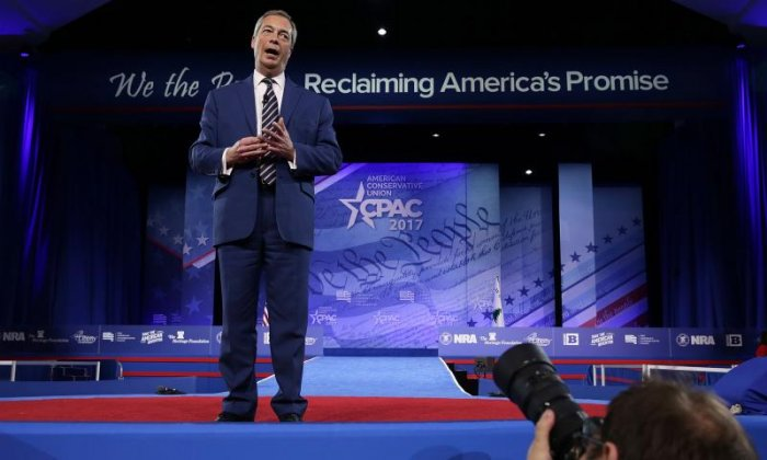 Nigel Farage has gained traction in America through his friendship with Donald Trump