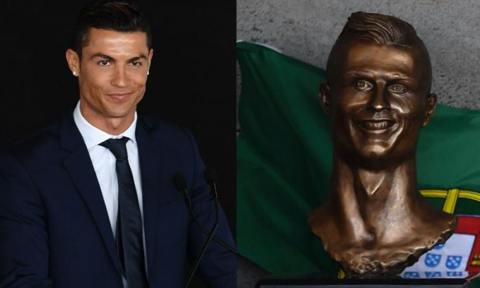 Why does the Madeira statue of Cristiano Ronaldo look so strange?