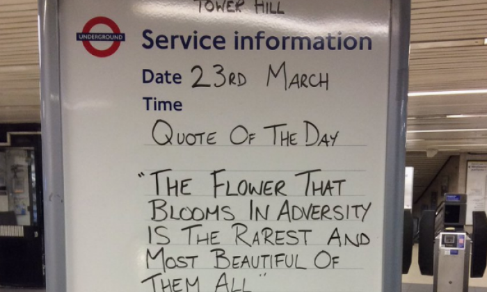 Westminster assault: London Underground messages in tube stations go viral in wake of terror attack
