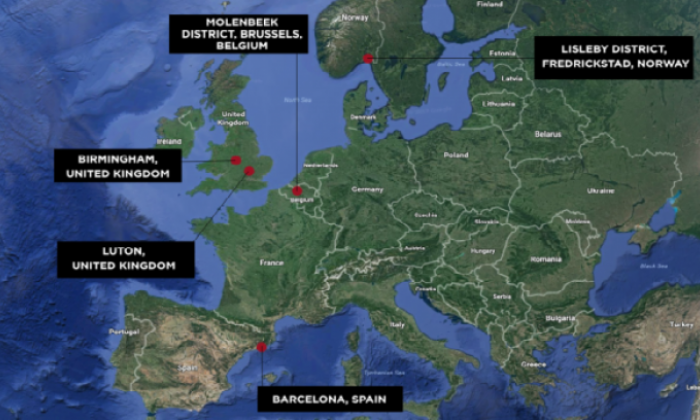 Europe's terror hotspots - where are the alleged breeding grounds for terrorism?