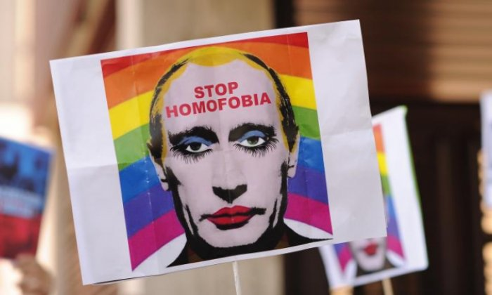 Russia bans image which suggests Vladimir Putin is gay