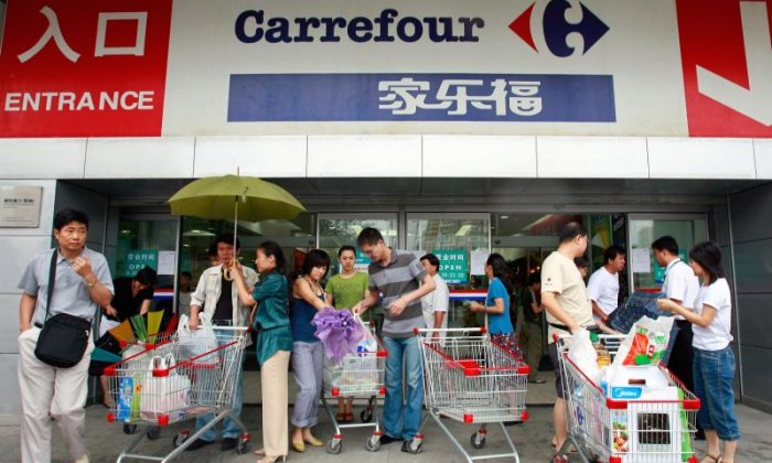 4. Protesters boycott French supermarket chain.