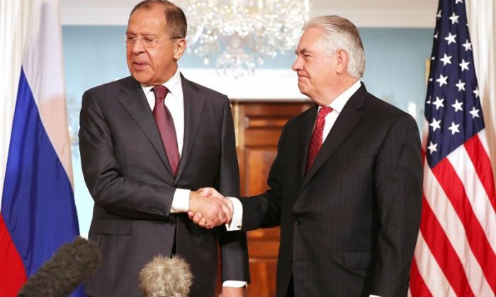 Donald Trump and Rex Tillerson meet Russian Foreign Minister Sergey Lavrov amid James Comey controversy