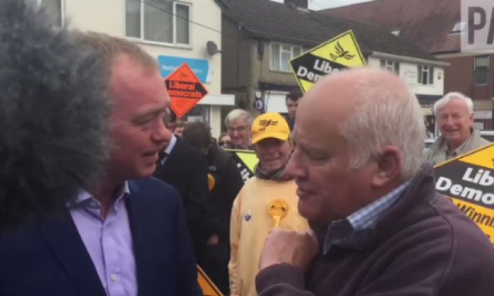 Twitter reacts to Malcolm Baker after he accosts Liberal Democrat leader Tim Farron