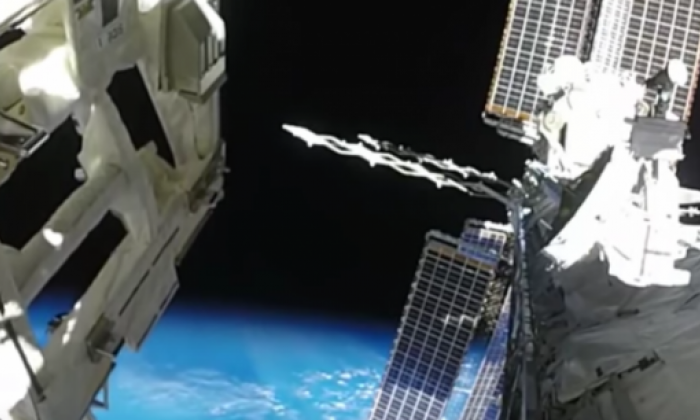 NASA Action Cam Captures Spacewalk of Two Astronauts