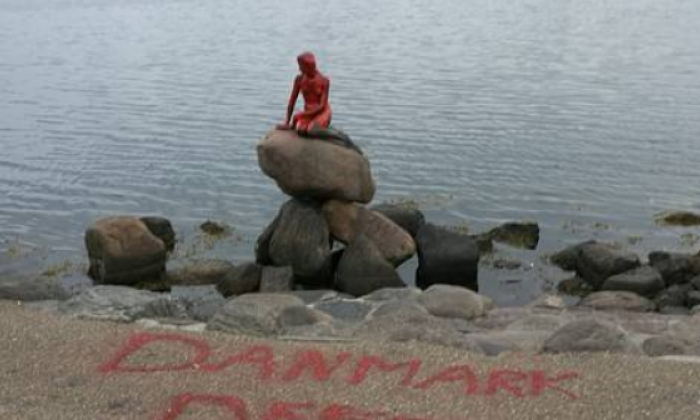 Denmark's mermaid statue defaced in whaling protest