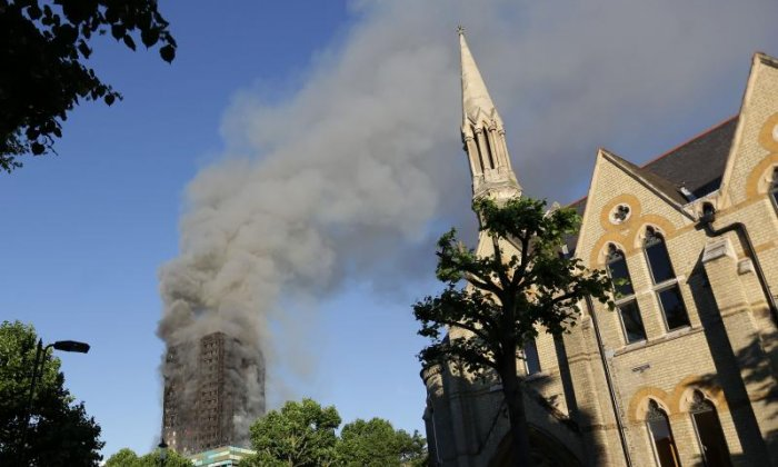 Grenfell Tower was engulfed by fire this morning