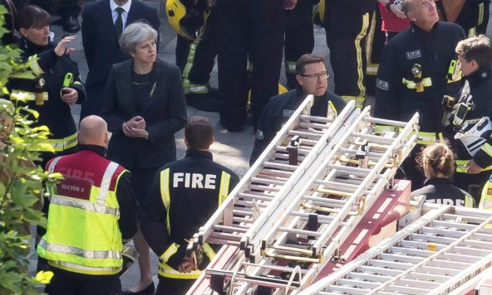 'Adele can meet victims of Grenfell Tower, Theresa May can't' - Prime Minister criticised for visiting site of fire but not meeting residents