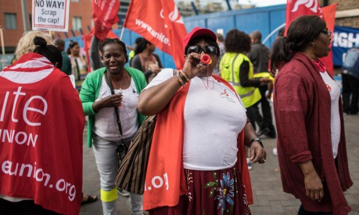 NHS cleaners, porters and security staff go on strike over pay