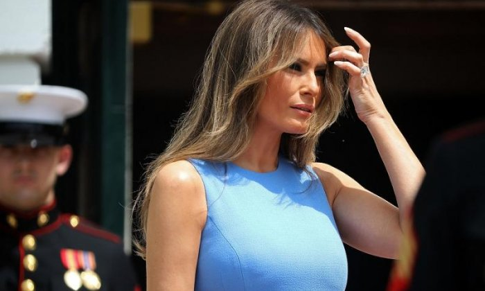 Melania Trump was reportedly stuck in her hotel today