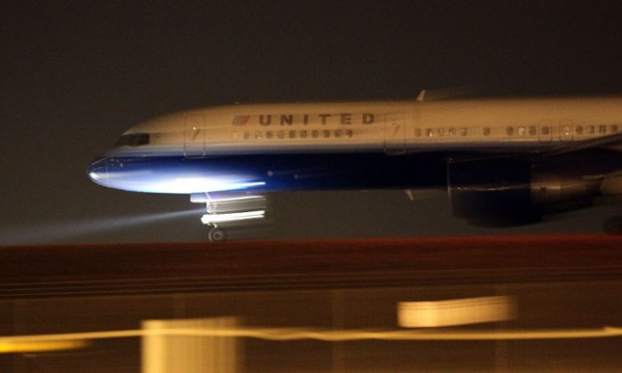 The plane caught fire on arrival in Denver