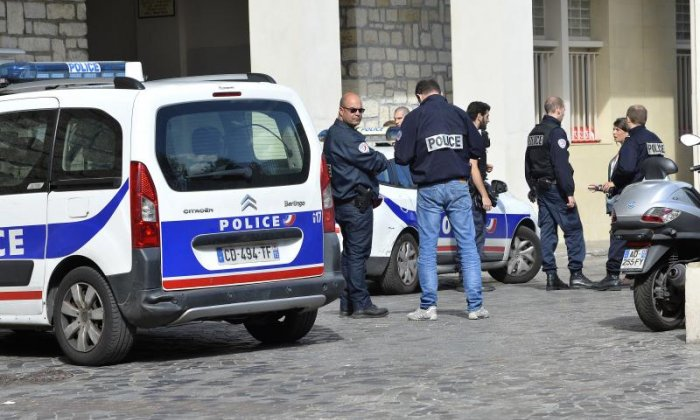 Six officers were injured in the town of Levallois-Perret