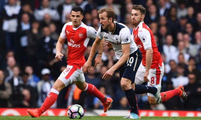 Harry Kane is followed by Granit Xhaka in the 'underpaid' list