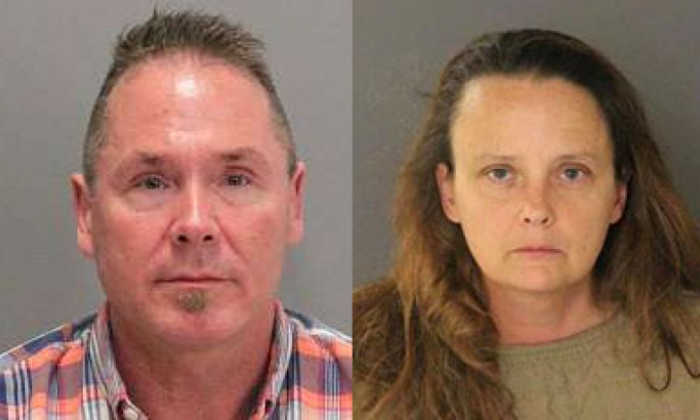 Michael Kellar (l) and Gail Burnworth have both been placed in custody