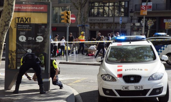 The four surviving Barcelona terror cell suspects taken to court