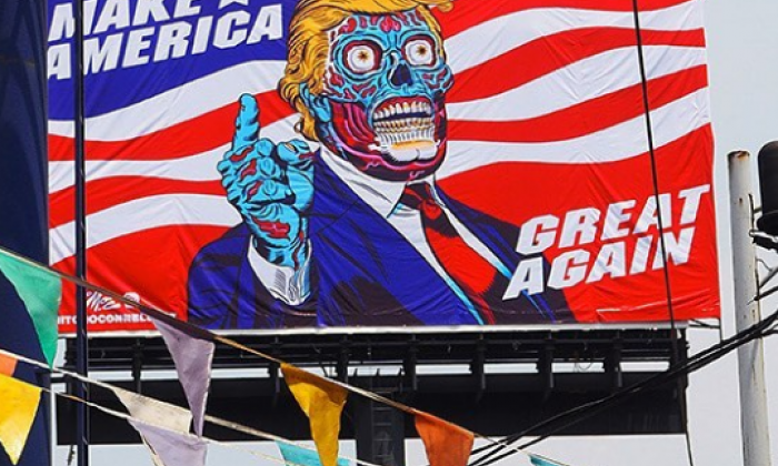 American artist causes waves with 'Zombie Trump' art