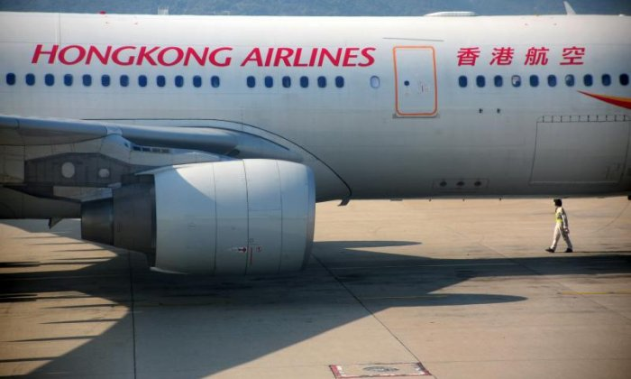 Plane almost collides with cargo aircraft at Hong Kong International Airport