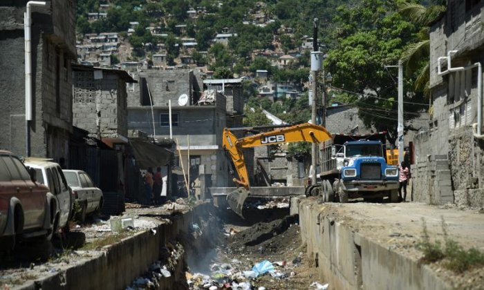 Clean-up work in Haiti has already begun