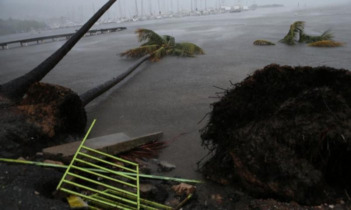 Debris is left behind at Puerto Chico Harbor