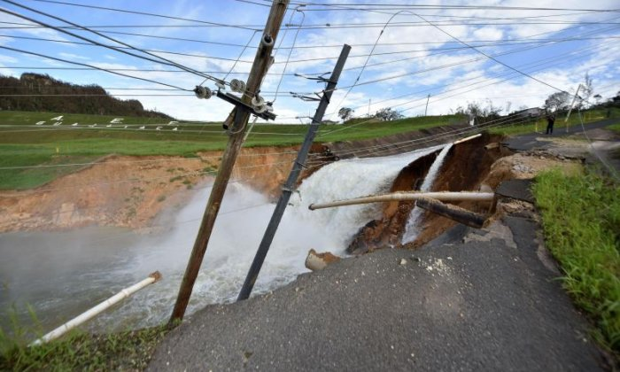 The Guajataka River Dam was damaged in the storm