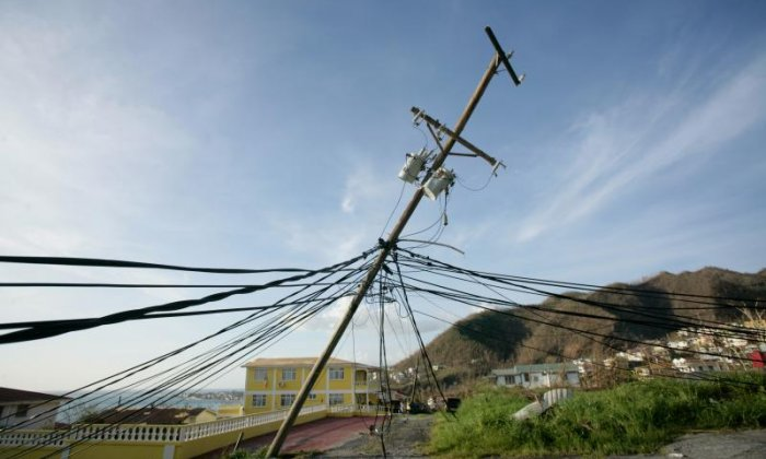 Power lines were affected by Hurricane Maria