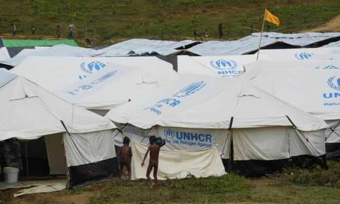 UN Refugee Agency tents have been set up