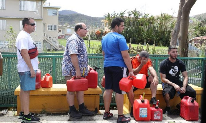 People wait for repairs to gas, electrical and water grids