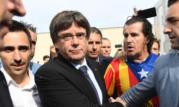 Catalonia declared independence this afternoon