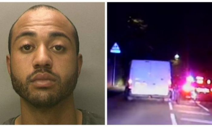 Curtis Stewart was caught when he eventually stalled the van he was driving