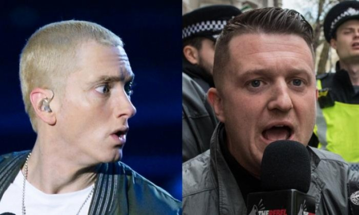 Eminem might not be too happy with Tommy Robinson