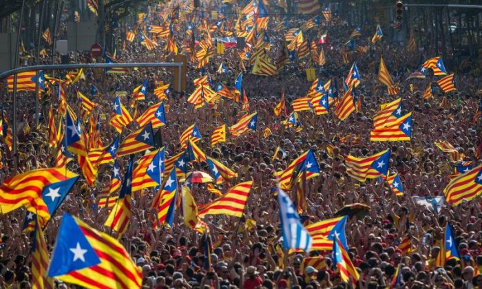 Protesters heed general strike call in Catalonia